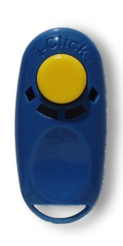Dog clicker training will be easier with the new i-clicker.